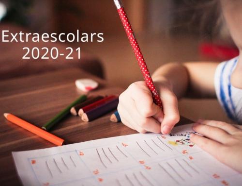 Preinscripció provisional d'extraescolars – Informació i novetats 2020-21