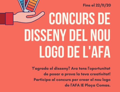 Participa al concurs del nou logotip de l'AFA IE Plaça Comas!