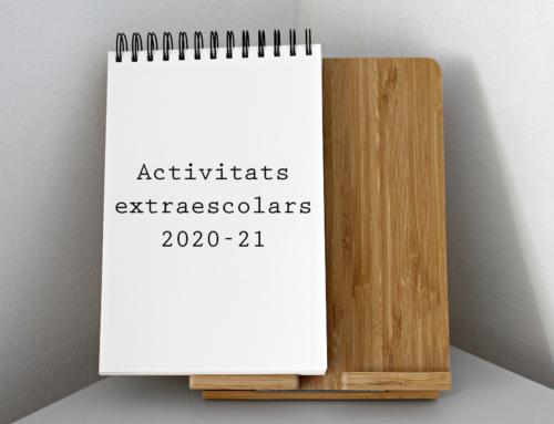 Terminis d'altes i baixes d'activitats extraescolars del tercer trimestre